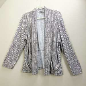 Chicos Easywear Jacket XL Open Front Stretch Sz 3